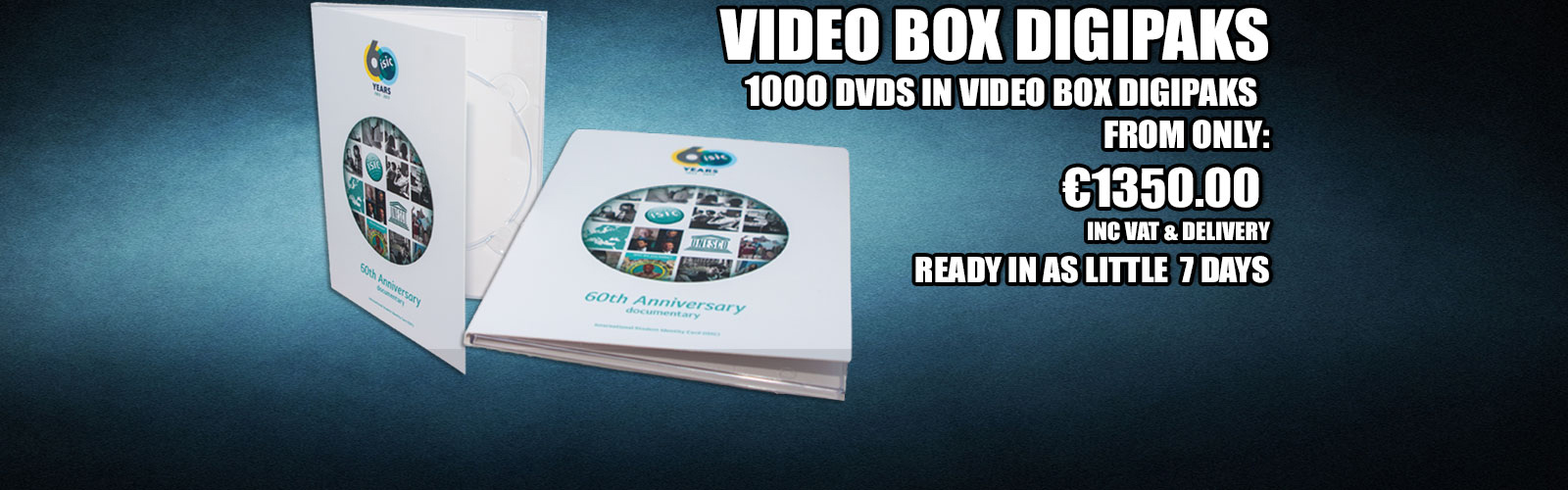 DVDs in Video Box Digipaks